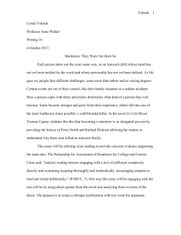 ap lang summer reading assignment in cold blood by truman essay 1 in cold blood
