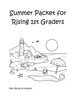 Summer Packet for Rising 1st Graders