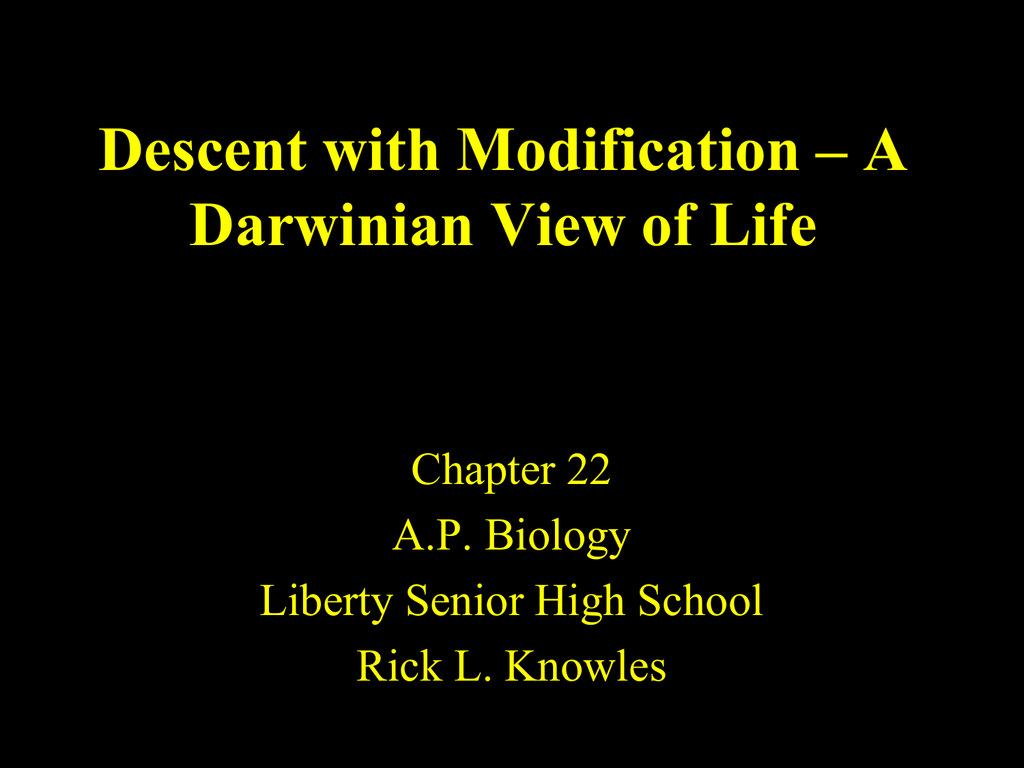 chapter 22 descent with modification