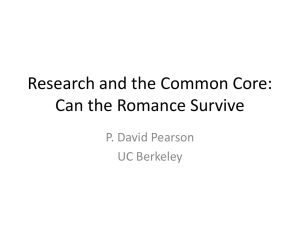 Research and the Common Core