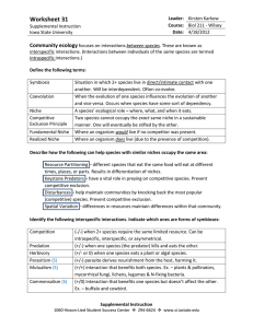 Worksheet 31 Key - Iowa State University
