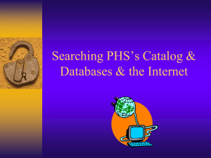 Databases & Keyword Searching