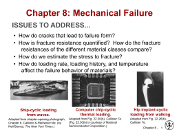 Chapter 8: Mechanical Failure - Faculty of Engineering and Applied