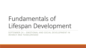 Emotional and Social Development in Infancy and