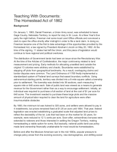 article on homestead act