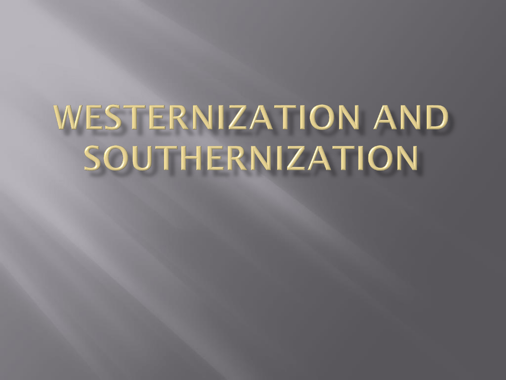 westernization and modernization in india