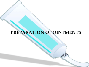 prepration of ointments