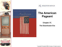 The American Pageant Chapter 37, The Eisenhower