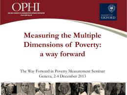 OPHI – MPI Team - United Nations Economic Commission for Europe