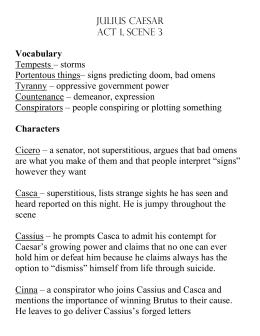 Julius Caesar Act 1 As A Whole