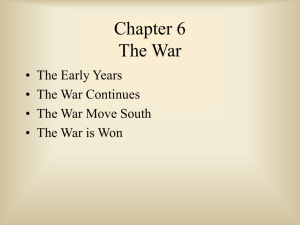 Chapter 6 The War - shshistorydept.net