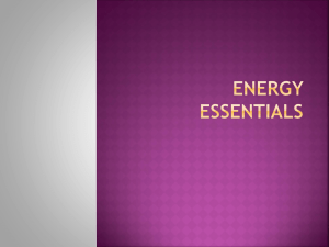 energy essentials