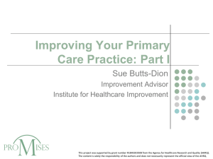 Improving Your Primary Care Practice #1