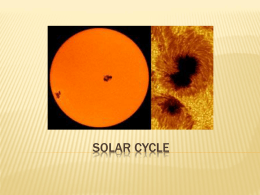 Solar Cycle - SSHSPhyscialGeography11
