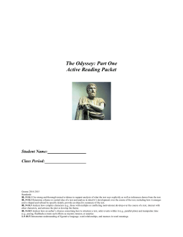 Essay on the odyssey