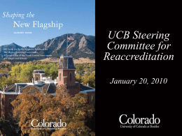 presentationJan2010 - University of Colorado Boulder