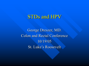 STD's and HPV - St. Luke's Roosevelt Hospital Center, Department