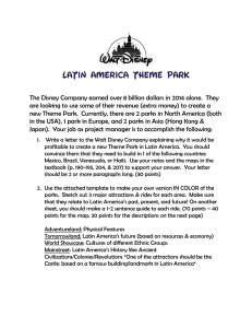 Latin America Disney Project Instructions