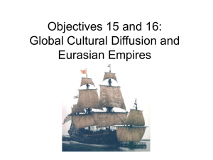 Objectives 15 and 16: Global Cultural Diffusion and Eurasian Empires