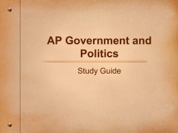AP Government and Politics