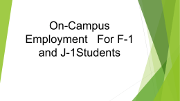 Employment Options For F1 Students