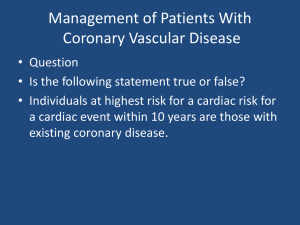 Management of Patients With CVD