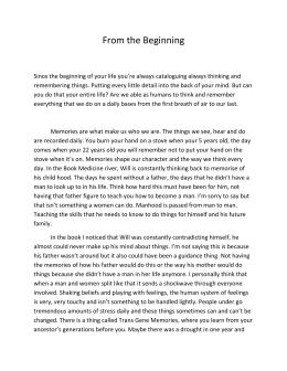 Medicine River Essay