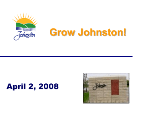 presentation slides - Johnston Chamber of Commerce