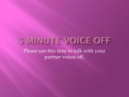 5 Minute voice off - Appoquinimink High School