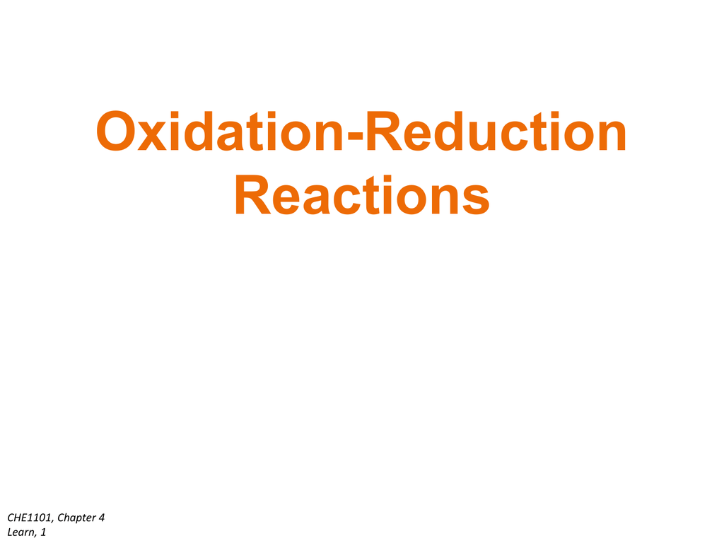 SOLVED:What is an oxidation-reduction reaction? G