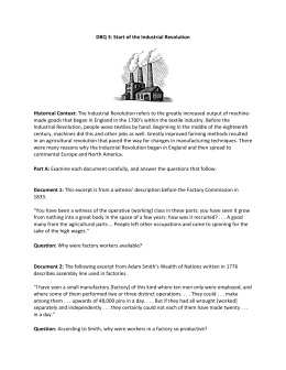Industrialization dbq essay