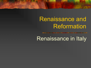Renaissance and Reformation - Windsor C
