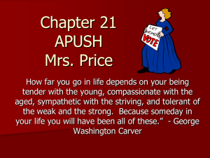Chapter 21 APUSH Mrs. Price