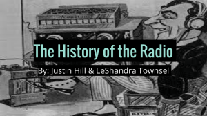 The History of the Radio