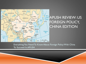 APUSH Review: US Foreign Policy, China Edition
