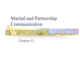 Marital and Partnership Communication