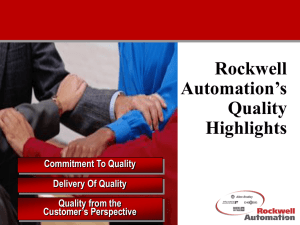 What is Quality? - Rockwell Automation