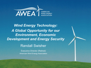 Wind Power (Dr. Randy Swisher)