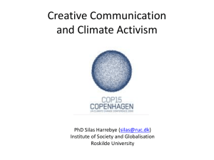 Creative Communication and Climate Activism
