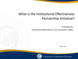 Institutional Effectiveness Partnership Initiative