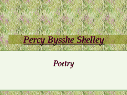 Percy Bysshe Shelley's biography