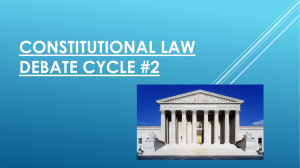 Constitutional law debate cycle #2