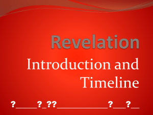 A Timeline for Revelation and Prophecy