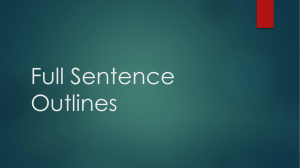 Full Sentence Outlines