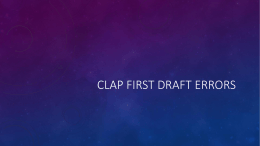 CLAP Full Outline Errors