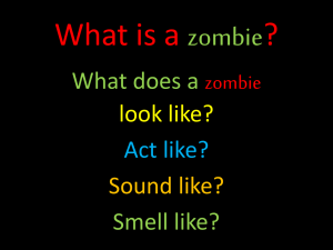 What is a zombie?