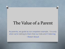 The Value of a Parent - Leo Hayes High School
