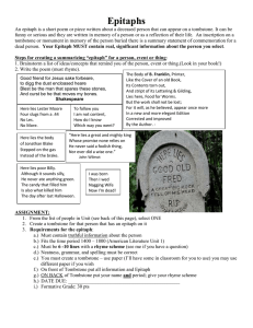 Epitaphs - Cobb Learning