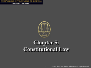 Chapter 5: Constitutional Law
