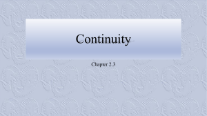 Chapter 2.3: Continuity